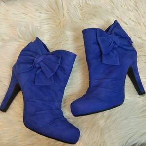 Gianni Binni Blue Leather High Heel Boots